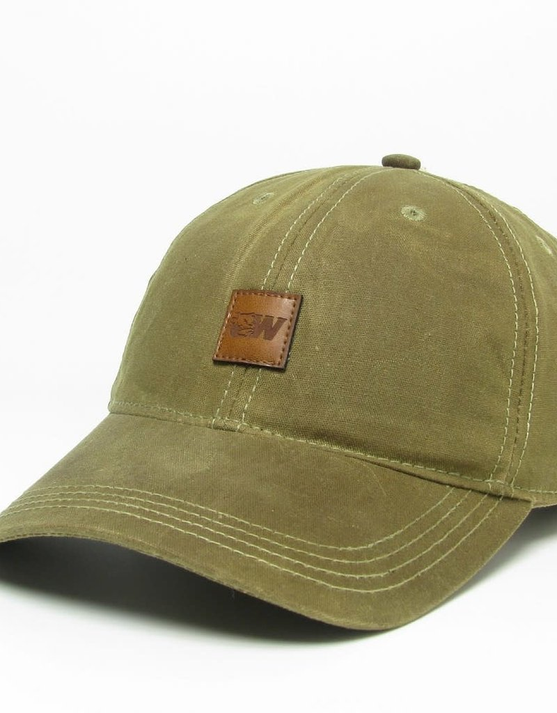 Legacy Tan Tiny Leather Patch Dog Head W Adjustable Hat