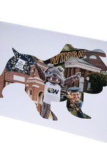 Standing Bulldog Collage Blank Note cards