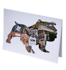 10 Standing Bulldog Collage Blank Note cards