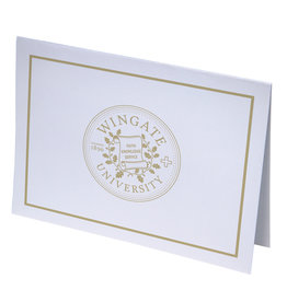 Gold Foil Seal Blank Notecards