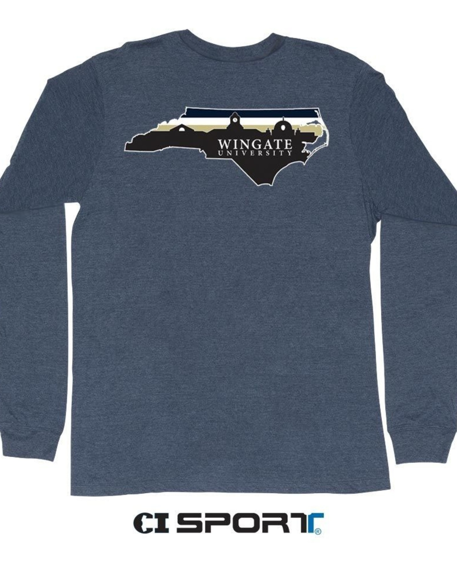 Zuni State Skyline W Front Navy Heather LS