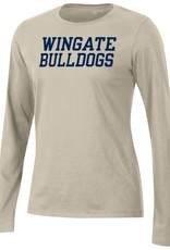 Gear For Sports Ladies Oatmeal Wingate University Relax LS Tee