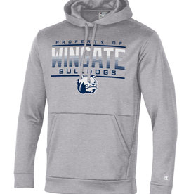 Champion Grey Field Day Fleece Property of Wingate Bulldogs Dog Head Hoodie