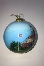 MCM Hand Painted Stegall Ceramic Ball Ornament