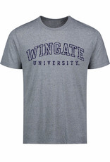 MV Sport Steel Blue Aspen Wingate University Open Letters SS Tee