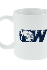 MCM 11oz Navy Dog Head W White Mug