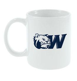 MCM 11oz Navy Dog Head W White Mug