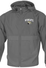 Champion Grey Lightweight Full Zip Wingate Dog Head Hoodie Jacket