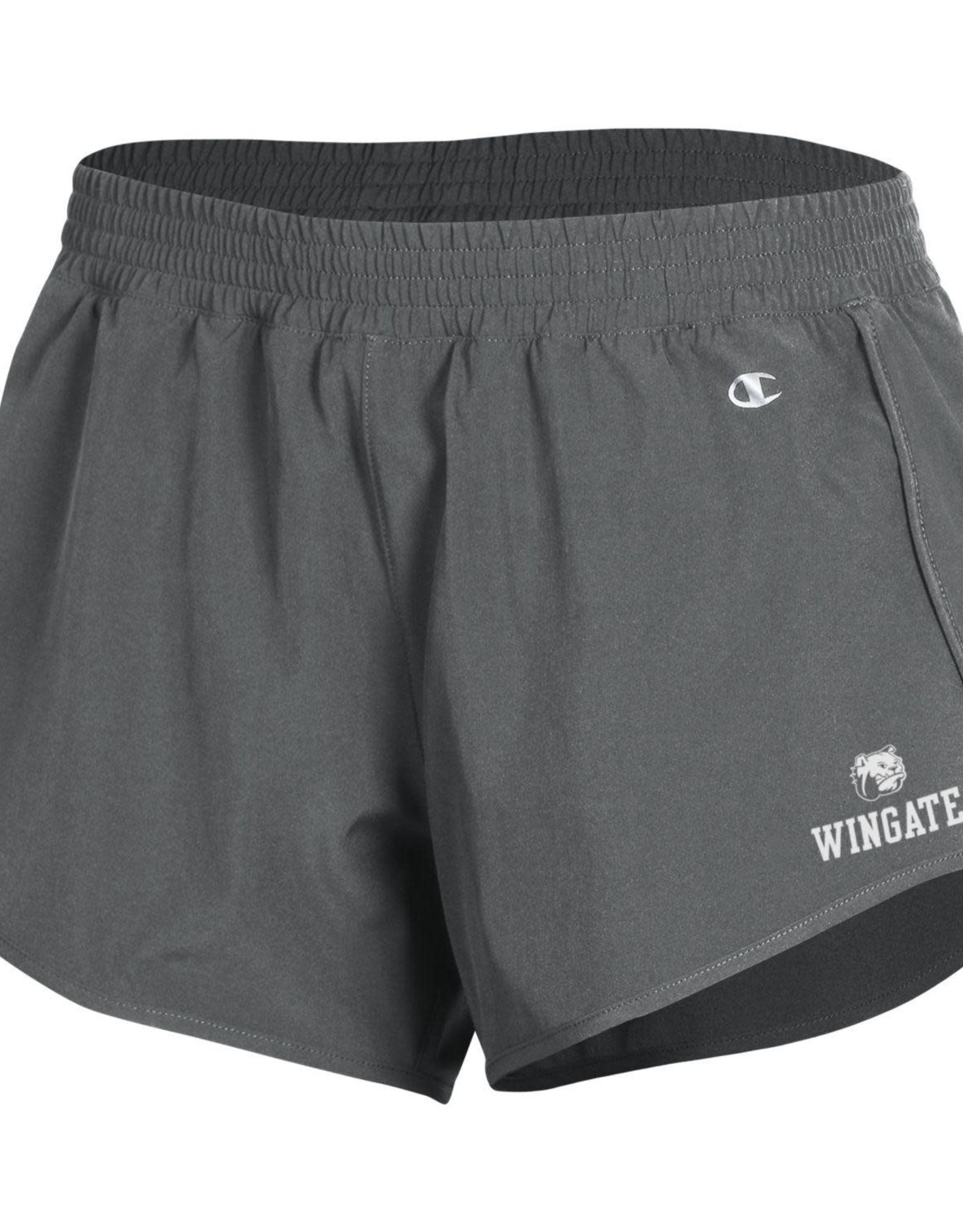 Champion Ladies Grey Stretch Woven Dog Head Wingate Shorts