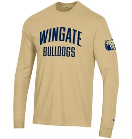 Champion Vegas Gold Super Fan Wingate Bulldogs LS Tee