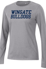 Gear For Sports Ladies Grey Wingate University Relax LS Tee