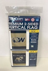 "28"" x 40"" Navy Gold Flag 2 Sided"