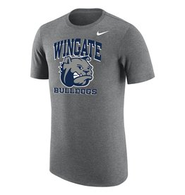 Nike Unisex Dark Heather Wingate Dog Head Bulldogs Triblend SS Tee