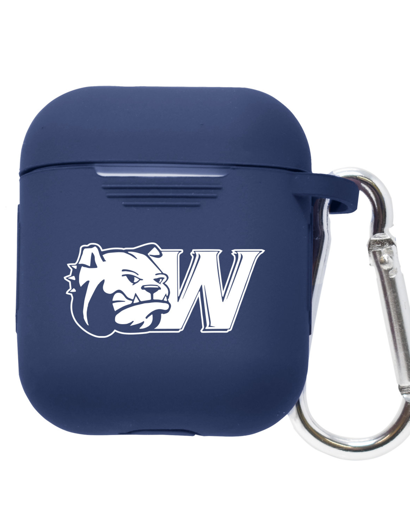 LXG Navy Silicone Air Pod Case With Carabiner Dog Head W
