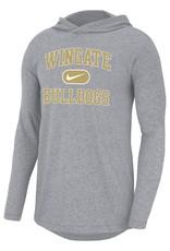 Nike Wolf Grey Marled Wingate Bulldogs Hoodie