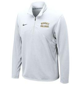 Nike White Wingate Bulldogs Embroidered Drifit Training 1/4 Zip