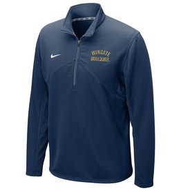Nike Navy Wingate Bulldogs Embroidered Drifit Training 1/4 Zip