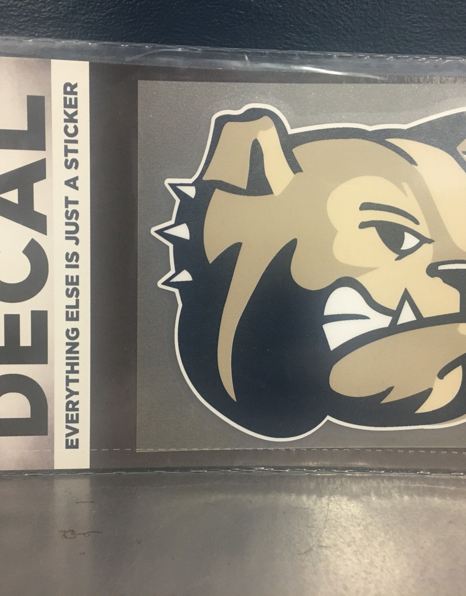 "Color Shock 4"" x 4"" Large Bulldog Head Decal"