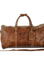 Carolina Sewn Large Leather Duffel Dog Head W (ONLINE ONLY)