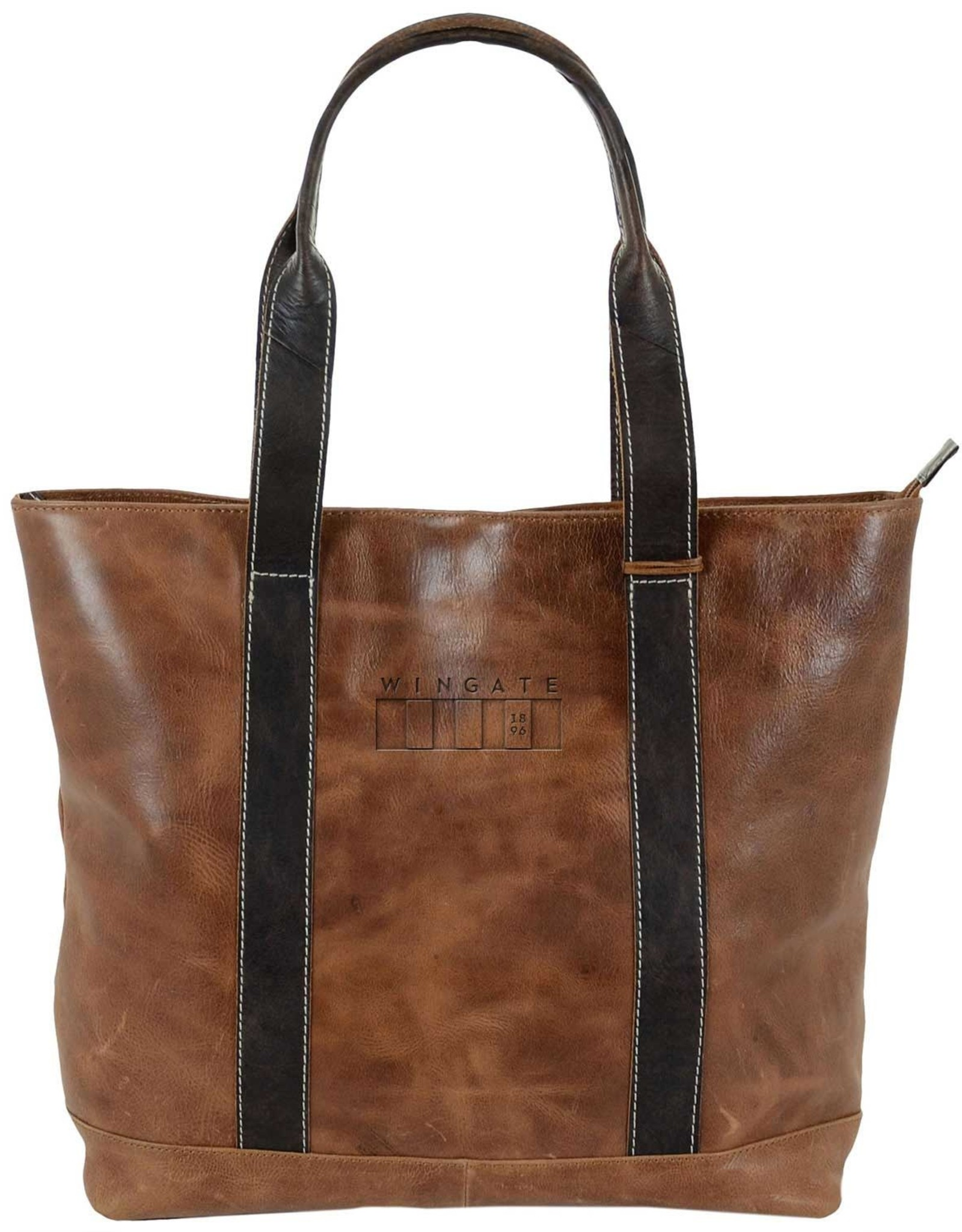 Carolina Sewn Westbridge Two-Tone Tan and Black Tote Wingate Flag (ONLINE ONLY)