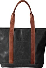 Carolina Sewn Westbridge Two-Tone Black and Tan Tote Wingate Flag (ONLINE ONLY)