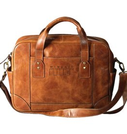 Carolina Sewn Westbridge Business Case Tan Wingate Flag (ONLINE ONLY)