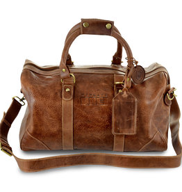 Carolina Sewn Small Leather Duffel Wingate Flag (ONLINE ONLY)