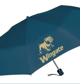 "Storm Duds 42"" Manual Shaft Gold Full Dog Wingate Navy Umbrella"