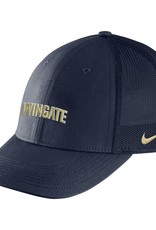 Nike Navy Wingate Mesh Back Swoosh Flex Fit Structured Hat