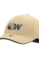 Nike Vegas Gold Dog Head W Swoosh Flex Stretch Fit Structured Hat