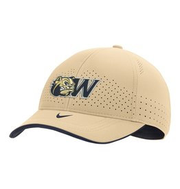 Nike Vegas Gold Dog Head W Swoosh Flex Stretch Fit Structured Hat