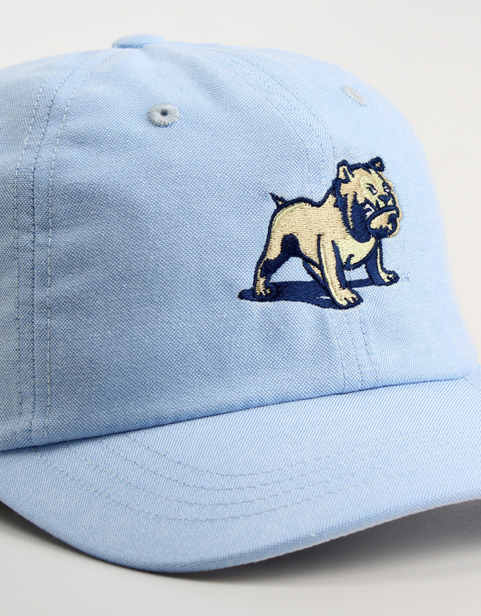 Ahead Standing Bulldog Chambray Oxford Prep Solid Mid Fit Unstructured Adjustable Hat