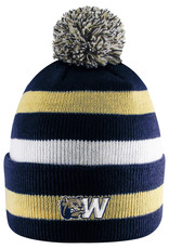 Logo Fit Primetime Striped Knit Cuff Pom Hat