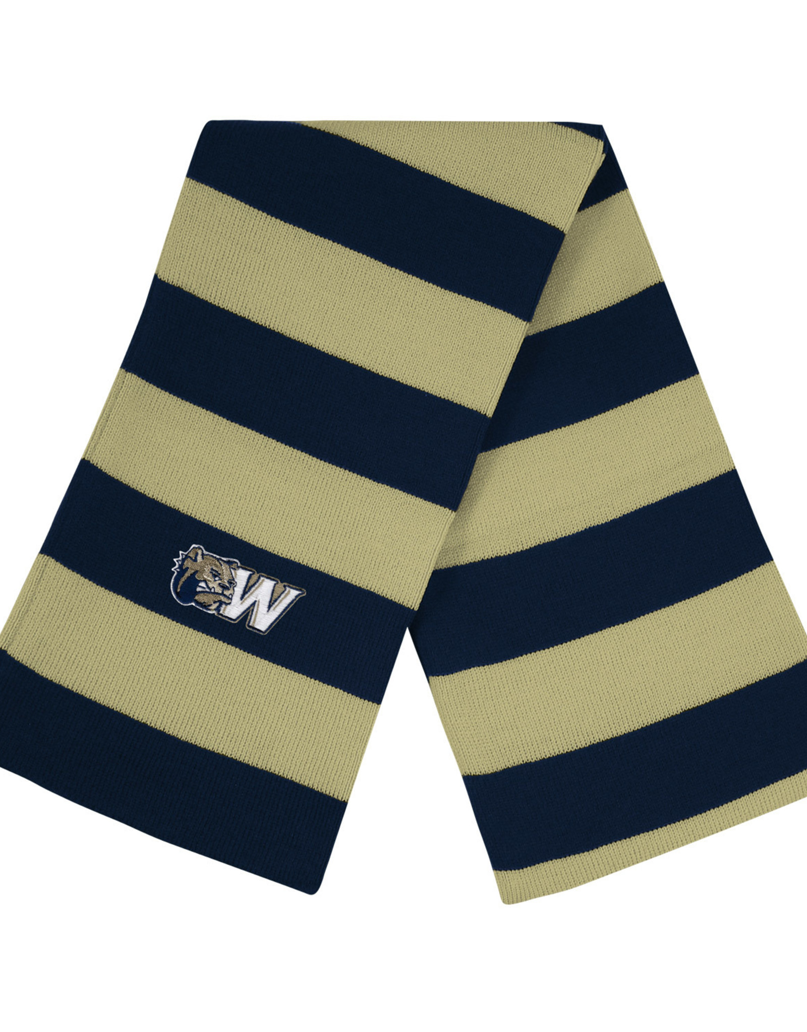 Logo Fit Niagra Rugby Striped Knit Scarf