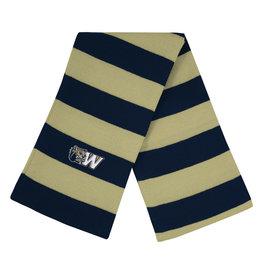 Logo Fit Niagra Rugby Striped Knit Scarf