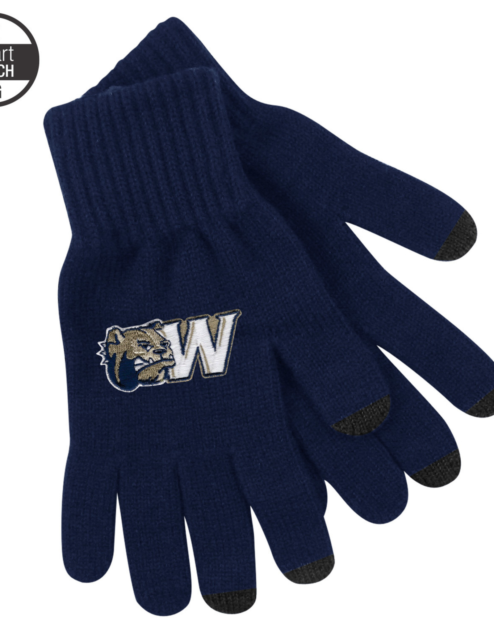 Logo Fit LG uText Deluxe Knit Texting Gloves