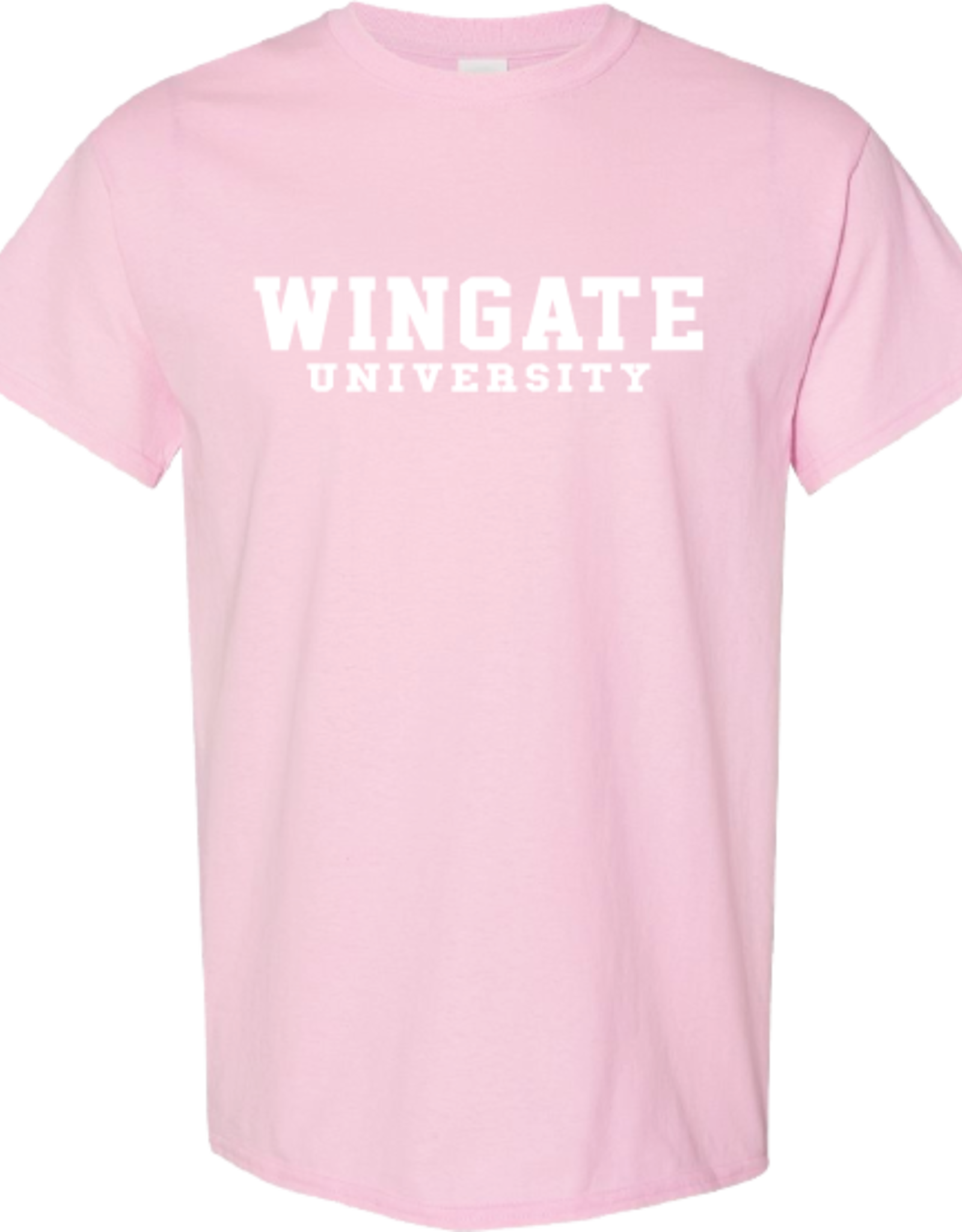 Gildan Light Pink Wingate University SS Tee