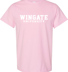 Gildan Light Pink Wingate University SS Tee