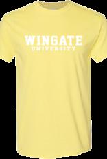 Gildan Yellow Cornsilk Wingate University SS Tee