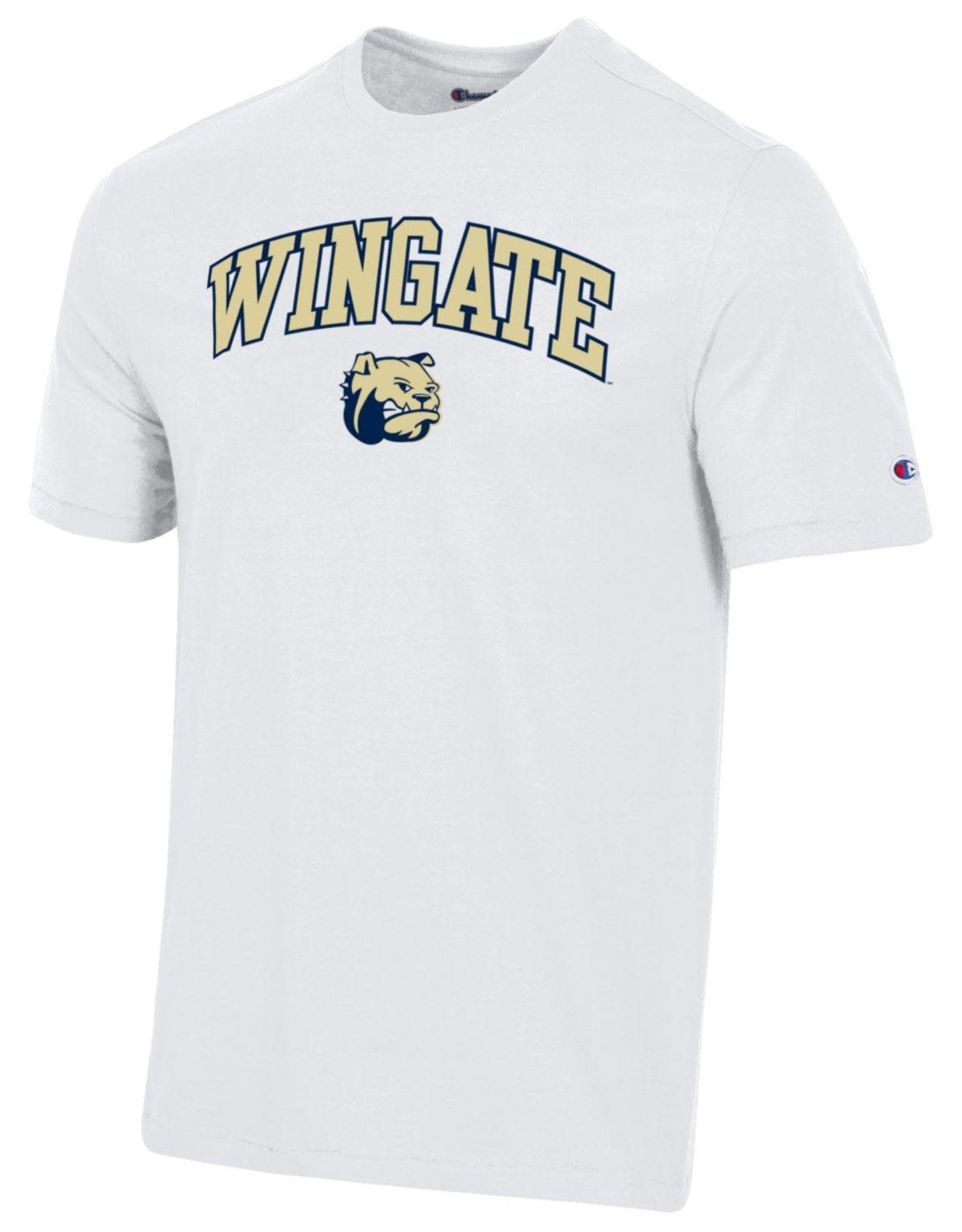 Champion White Super Fan Wingate Dog Head SS Tee