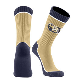 Twin City Knitting Core 2 Crewneck Dog Head W Vegas Gold Socks