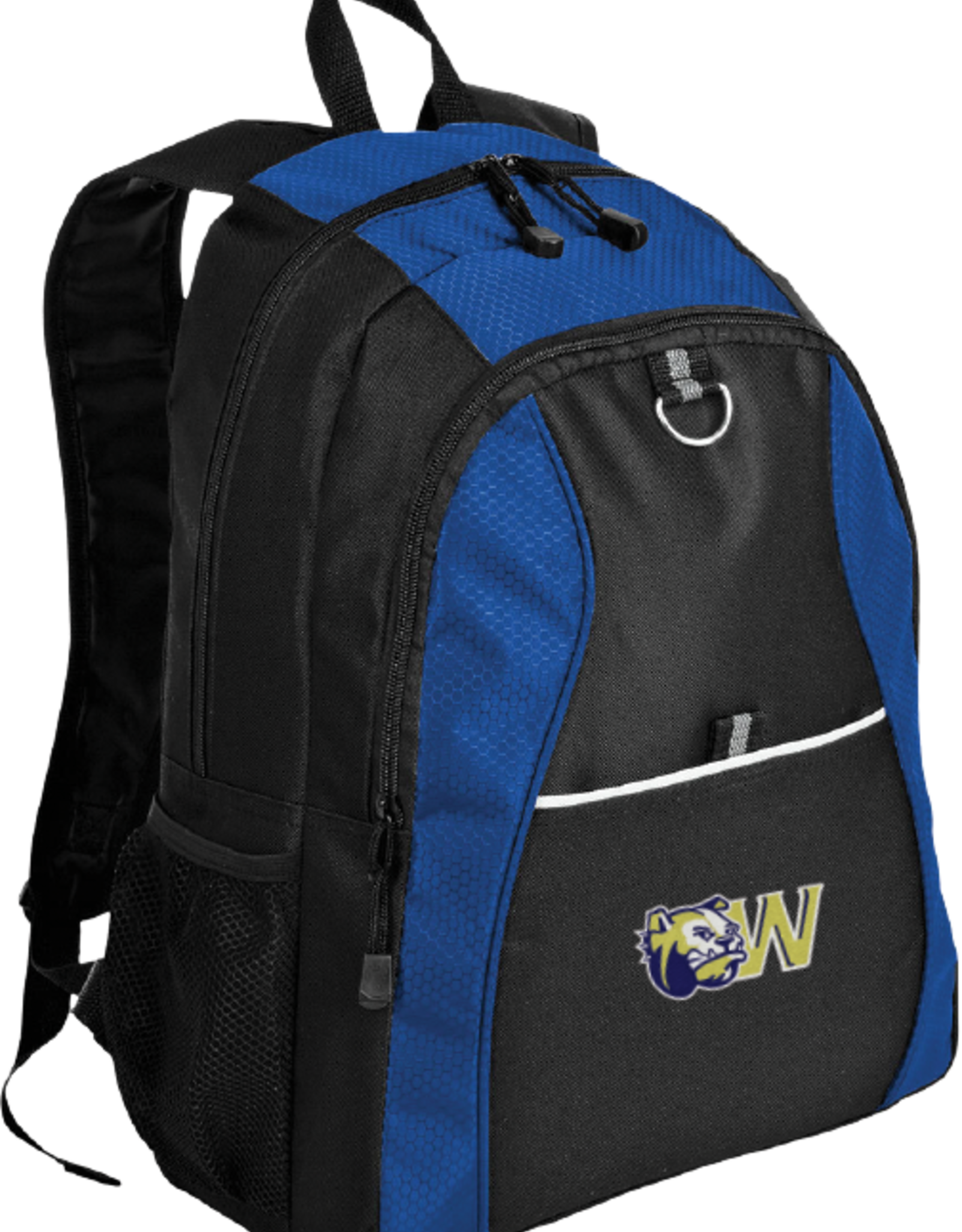 Port Authority Contrast Honeycomb Backpack Black and Blue