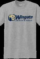 Gildan Grey Dog Head Wingate Track and Field SS