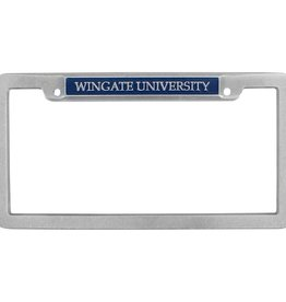 Pewter Wingate University License Frame NC Compliant