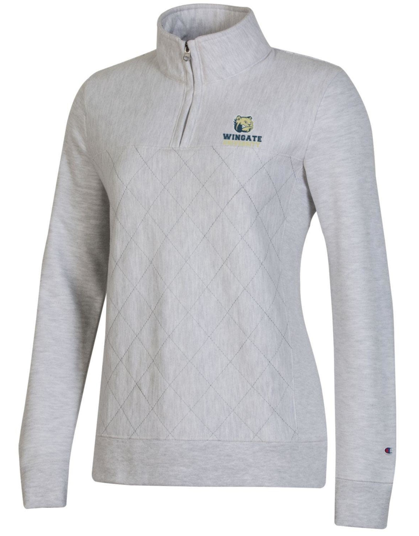 Champion Ladies Light Grey Quilted 1/4 Zip