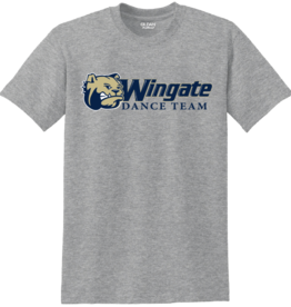 Gildan Grey Dog Head Wingate Dance Team SS Tee