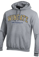 Champion Grey Powerblend Wingate University Embroidered Hoodie