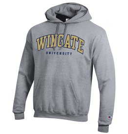 Champion Unisex Grey Powerblend Wingate University Embroidered Hoodie