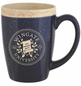 Spirit 16oz Navy Gold Seal Speckled Adobe Cafe Mug
