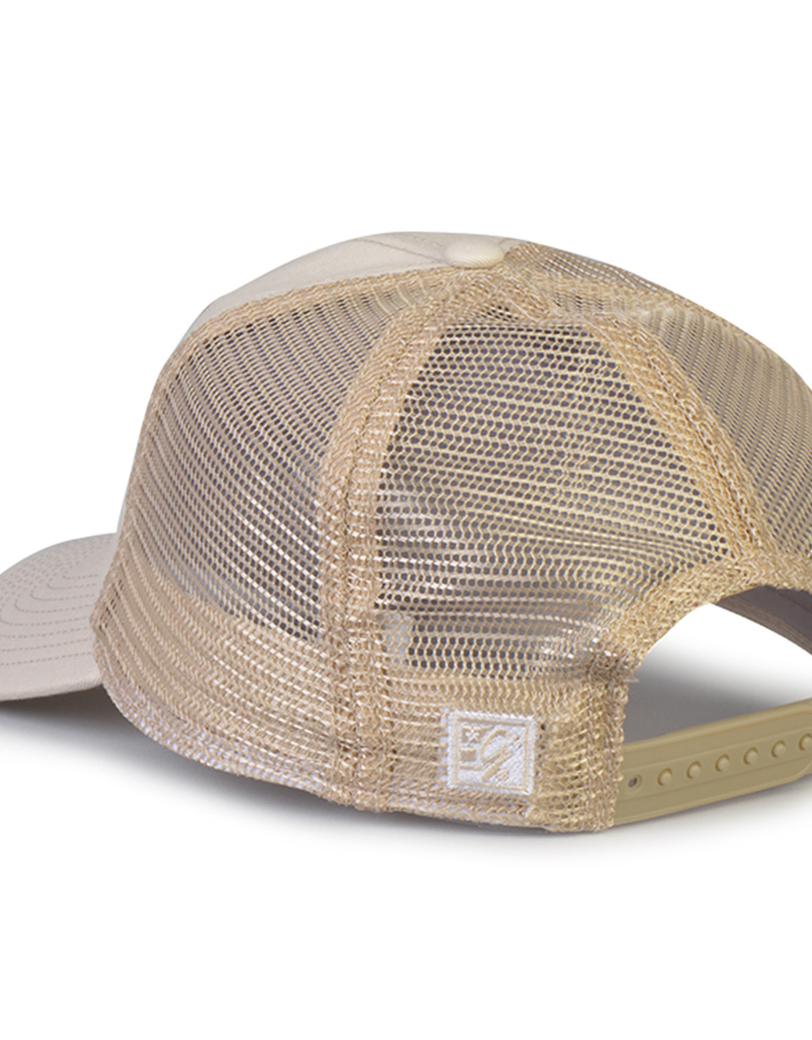 The Game Tan New Flag Unstructured Adjustable Mesh Trucker Hat
